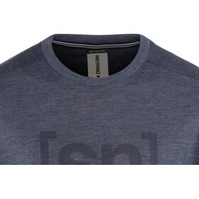 super.natural Essential I.D. T-Shirt Homme, navy blazer melange/print